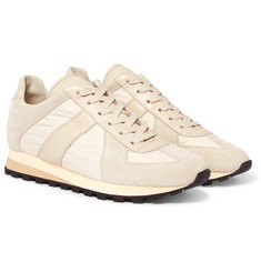 Maison Margiela - Retro Runner Suede, Leather And Shell Sneakers