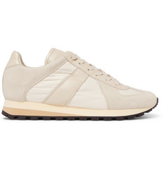 Maison Margiela Retro Runner Suede, Leather And Shell Sneakers