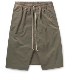 Rick Owens Pod Coated Cotton-Blend Shorts