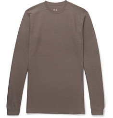 Rick Owens Slim-Fit Waffle-Knit Wool Sweater