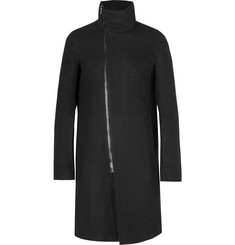 Rick Owens Virgin Wool-Blend Twill Coat