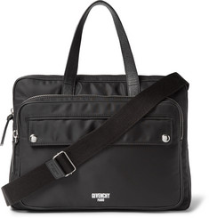 Givenchy - Cross-Grain Leather-Trimmed Shell Briefcase