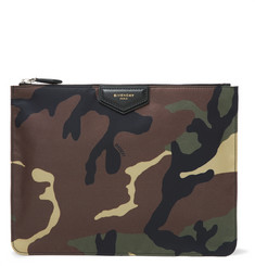Givenchy Camouflage-Print Shell Pouch
