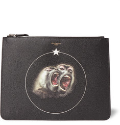Givenchy - Monkey Brothers Printed Faux Leather Pouch