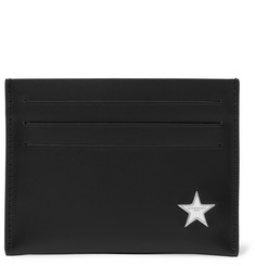 Givenchy Star-Embellished Leather Cardholder