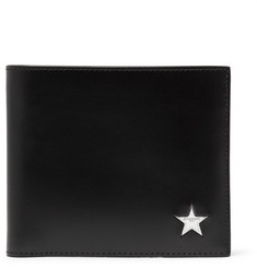 Givenchy Star-Embellished Leather Billfold Wallet