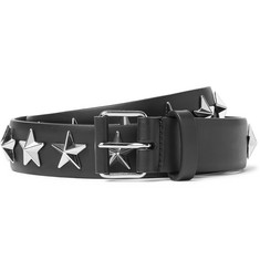 Givenchy 3cm Black Star-Studded Leather Belt