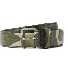 Givenchy - 3cm Camouflage-Print Full-Grain Leather Belt