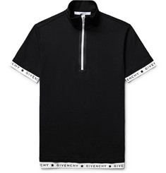 Givenchy Slim-Fit Stretch-Cotton Piqué Half-Zip Polo Shirt