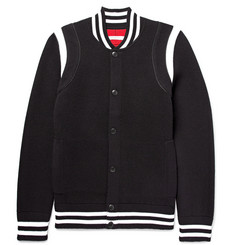 Givenchy Embroidered Wool-Blend Bomber Jacket