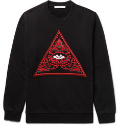 Givenchy Cuban-Fit Embroidered Fleece-Back Cotton-Jersey Sweatshirt