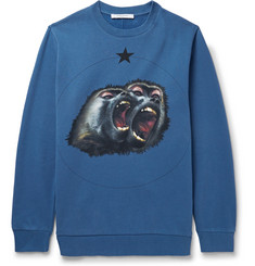 Givenchy - Monkey Brothers Cuban-Fit Printed Fleece-Back Cotton-Jersey Sweatshirt