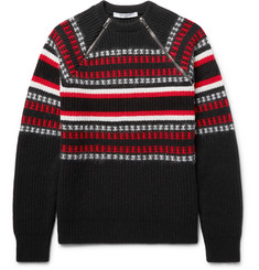 Givenchy Cuban-Fit Zip-Detailed Wool-Blend Sweater
