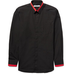 Givenchy - Slim-Fit Contrast-Tipped Cotton-Poplin Shirt