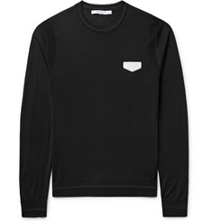 Givenchy Antigona Slim-Fit Leather-Appliquéd Wool Sweater