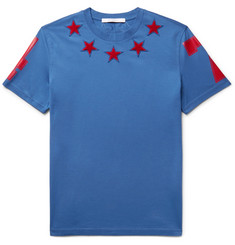 Givenchy Cuban-Fit Star-Appliquéd Cotton-Jersey T-Shirt
