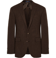 Polo Ralph Lauren - Brown Polo 1 Slim-Fit Herringbone Wool Blazer