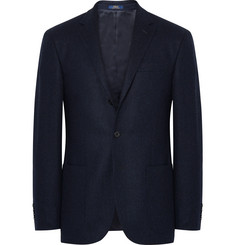 Polo Ralph Lauren Navy Polo 1 Slim-Fit Tick-Weave Wool Blazer