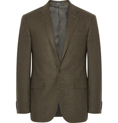 Polo Ralph Lauren Olive Polo 1 Slim-Fit Tick-Weave Wool Blazer