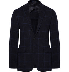 Polo Ralph Lauren - Blue Morgan Slim-Fit Windowpane-Checked Wool and Alpaca-Blend Blazer