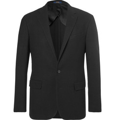 Polo Ralph Lauren Black Basketweave Wool Blazer