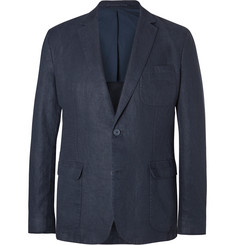 Orlebar Brown Blue Edgar Slim-Fit Unstructured Linen Blazer