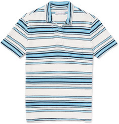 Orlebar Brown Sunmor Slim-Fit Striped Cotton-Terry Polo Shirt