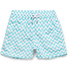 Frescobol Carioca Sidewalk Short-Length Printed Swim Shorts