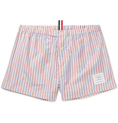 Thom Browne Striped Cotton-Poplin Boxer Shorts