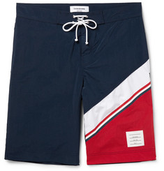 Thom Browne - Long-Length Colour-Block Swim Shorts