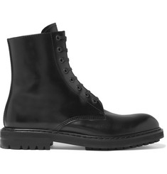 Alexander McQueen Leather Combat Boots