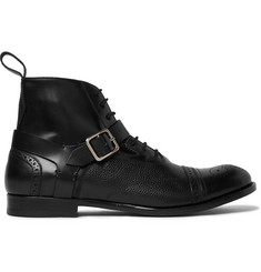 Alexander McQueen Panelled Leather Harness Brogue Boots