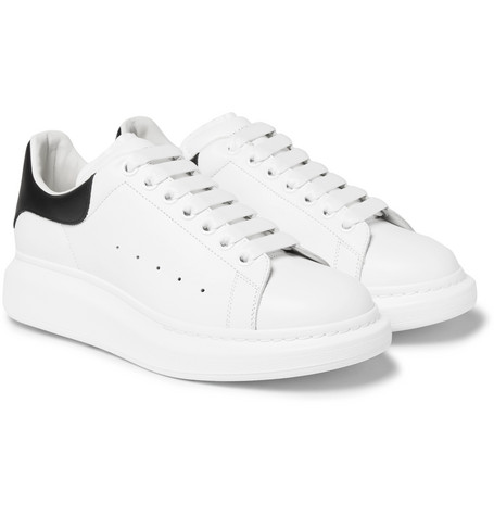Larry Exaggerated-sole Leather Sneakers - White