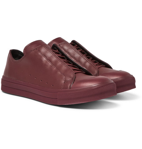 Leather Sneakers - Burgundy