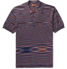Missoni - Slim-Fit Space-Dyed Cotton-Jersey Polo Shirt