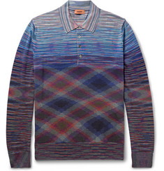 Missoni Slim-Fit Space-Dyed Wool and Cotton-Blend Polo Shirt