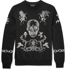 Alexander McQueen - Embroidered Cotton-Jersey Sweatshirt