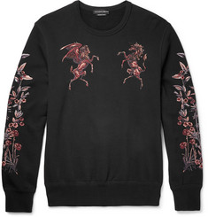 Alexander McQueen Embroidered Cotton-Jersey Sweatshirt