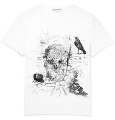 Alexander McQueen London Printed Cotton-Jersey T-Shirt