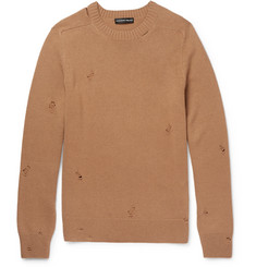 Alexander McQueen Distressed Cashmere Sweater