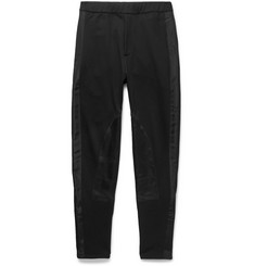 Alexander McQueen Slim-Fit Tapered Satin-Panelled Cotton-Jersey Sweatpants