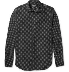 Alexander McQueen Slim-Fit Printed Silk Shirt