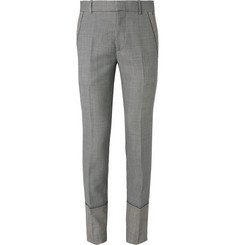 Alexander McQueen Slim-Fit Houndstooth Wool, Mohair and Silk-Blend Suit Trousers