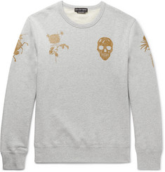 Alexander McQueen Slim-Fit Printed Loopback Cotton-Jersey Sweatshirt