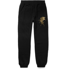 Alexander McQueen - Slim-Fit Tapered Printed Cotton-Jersey Sweatpants