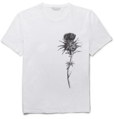 Alexander McQueen Slim-Fit Thistle-Print Cotton-Jersey T-Shirt