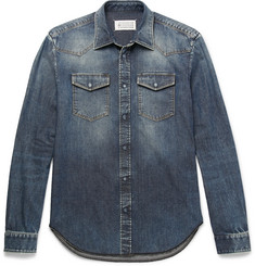 Maison Margiela Slim-Fit Washed-Denim Western Shirt