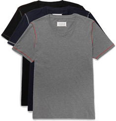 Maison Margiela Three-Pack Slim-Fit Cotton-Jersey T-Shirts