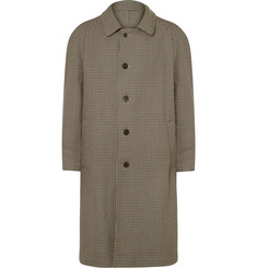 Maison Margiela Reversible Gingham Wool and Cotton-Twill Trench Coat