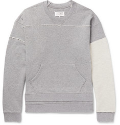 Maison Margiela Panelled Loopback Cotton-Jersey Sweatshirt